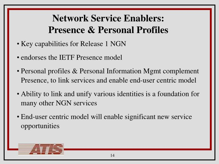 Network Service Enablers:
