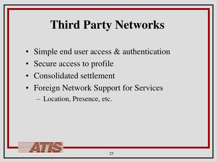 Third Party Networks