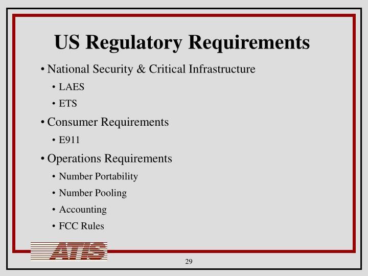 US Regulatory Requirements