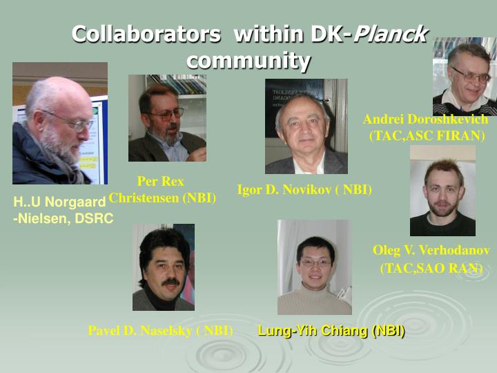 collaborators within dk planck community