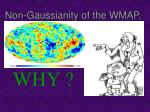 non gaussianity of the wmap