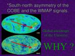 south north asymmetry of the cobe and the wmap signals