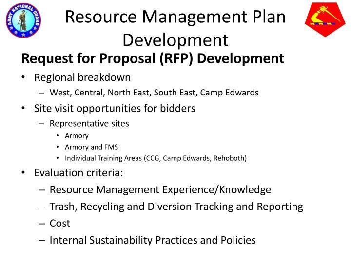 Resource Management Plan Development