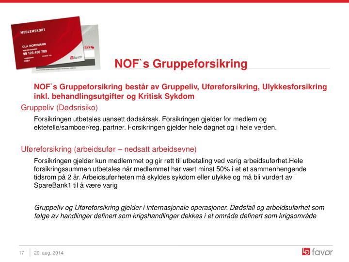 NOF`s Gruppeforsikring