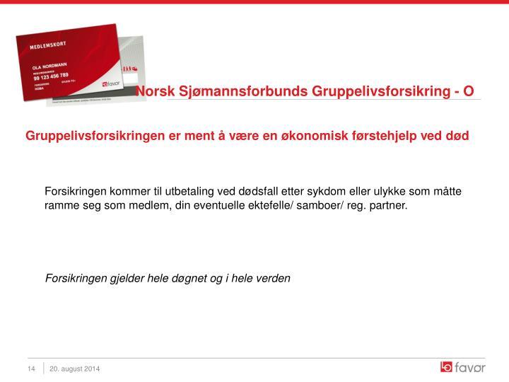 Norsk Sjømannsforbunds Gruppelivsforsikring - O