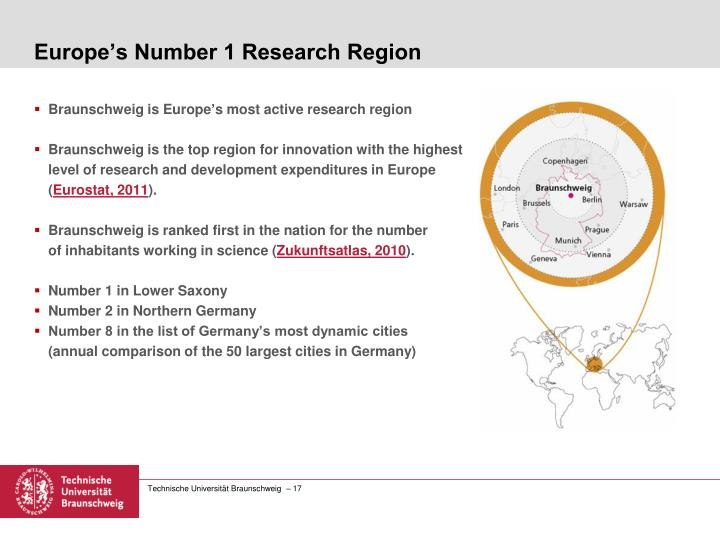 Europe's Number 1 Research Region