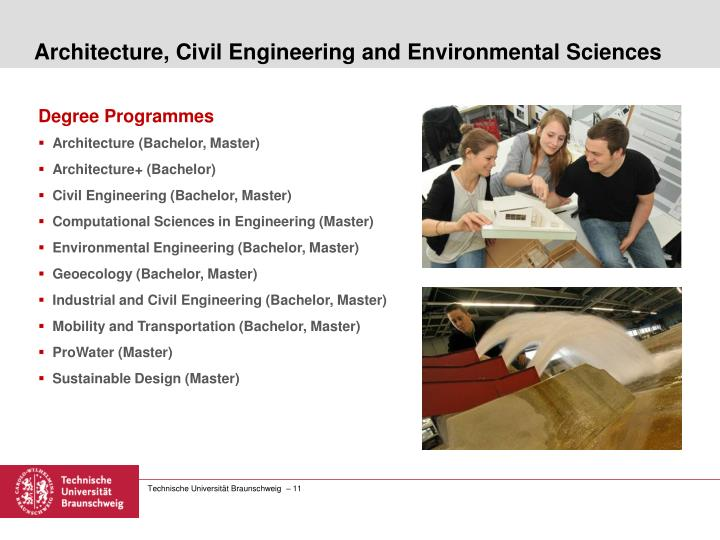 Architecture, Civil Engineering and Environmental Sciences