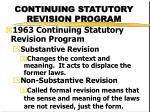 continuing statutory revision program
