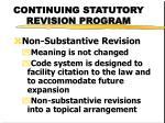 continuing statutory revision program1