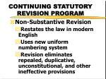 continuing statutory revision program2