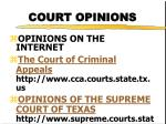 court opinions