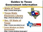 guides to texas government information