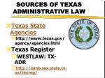 sources of texas administrative law1