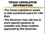 texas legislative information