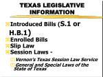 texas legislative information1
