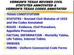 vernon s texas revised civil statutes annotated vernon s texas codes annotated