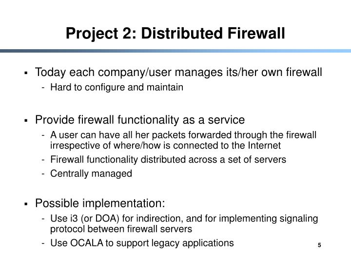 Project 2: Distributed Firewall
