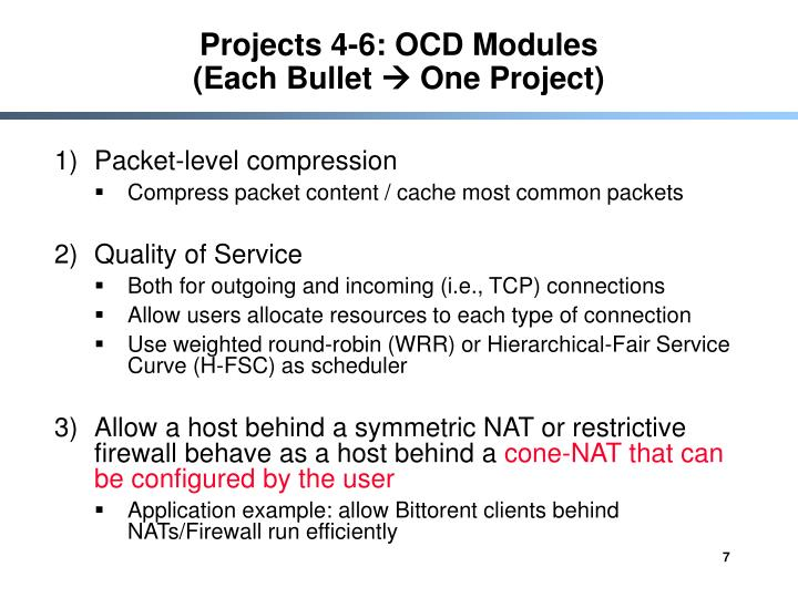 Projects 4-6: OCD Modules