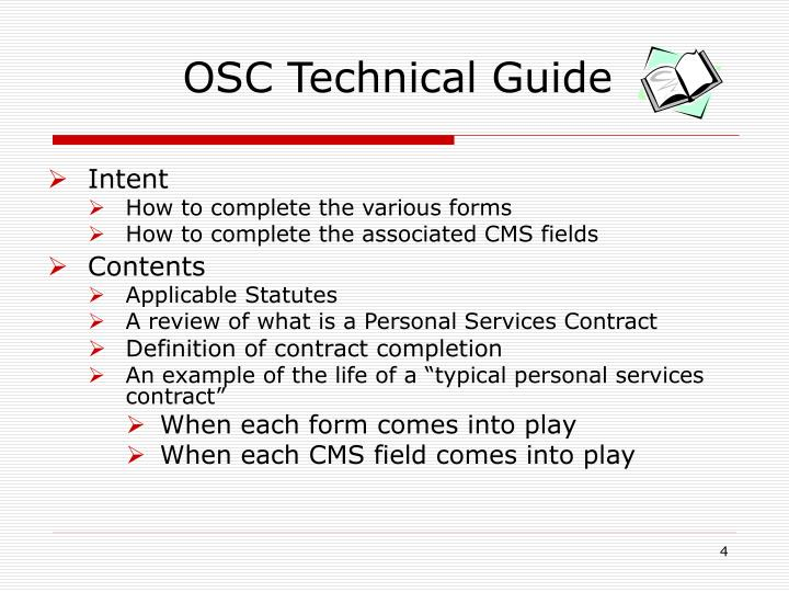 OSC Technical Guide