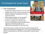 a framework for junior cycle1