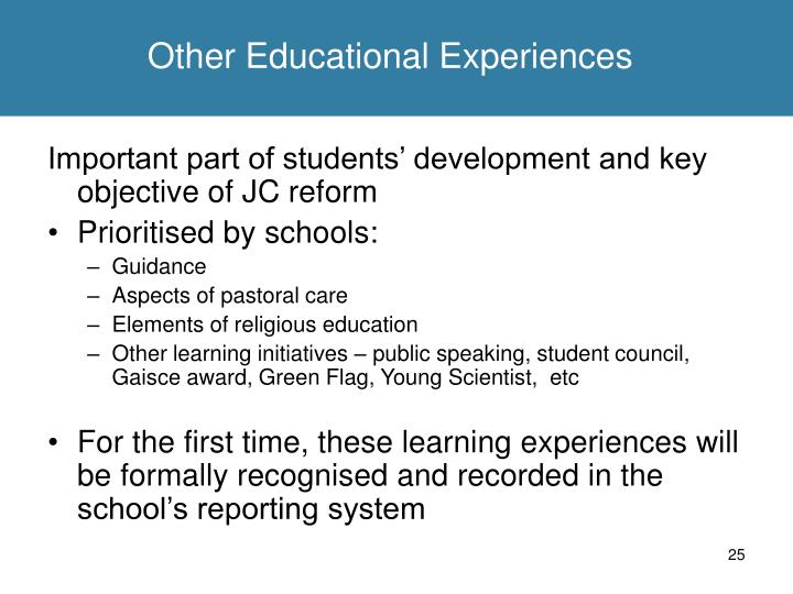 Other Educational Experiences