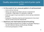 quality assurance at the end of junior cycle contd