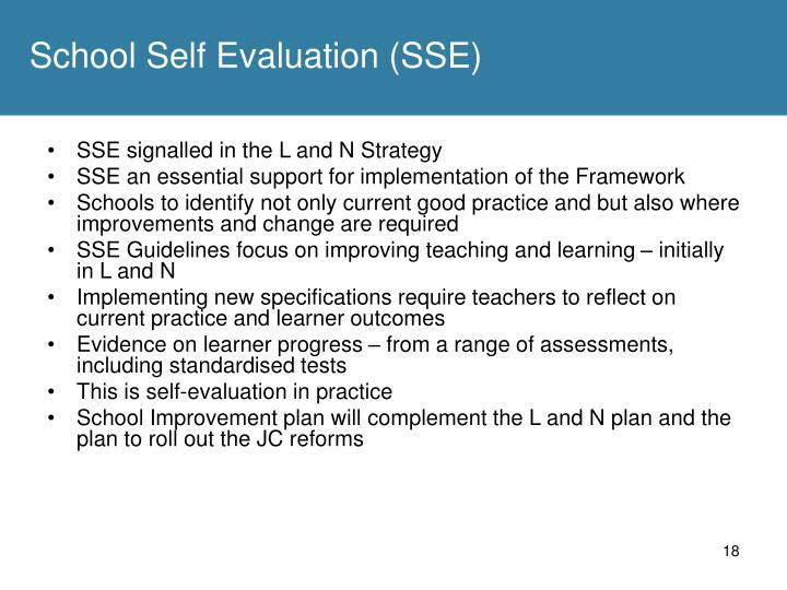 School Self Evaluation (SSE)