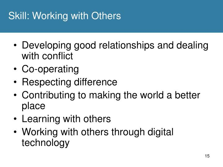 Skill: Working with Others