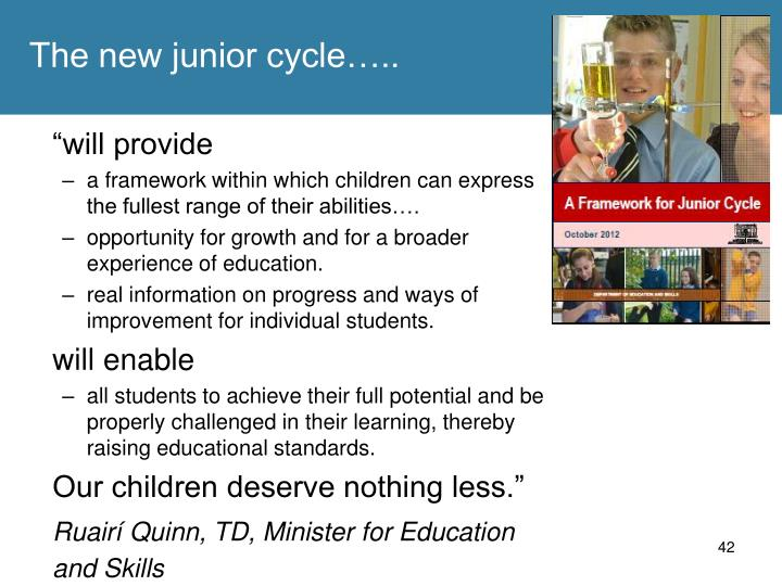 The new junior cycle…..