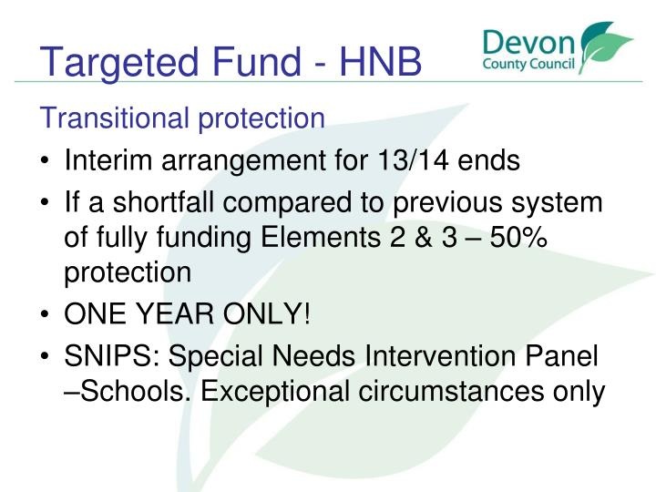 Targeted Fund - HNB