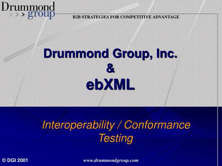 drummond group inc ebxml