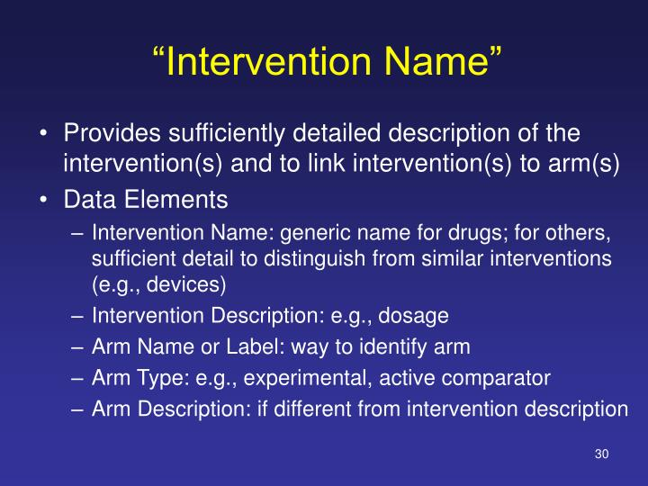 """Intervention Name"""