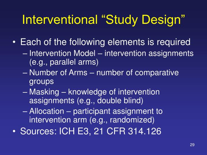 "Interventional ""Study Design"""