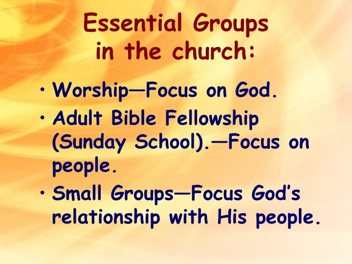 Essential Groups