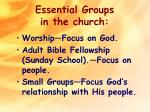 essential groups in the church