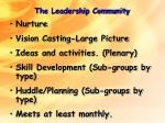 the leadership community