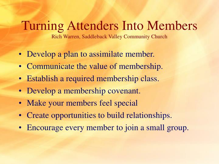 Turning Attenders Into Members
