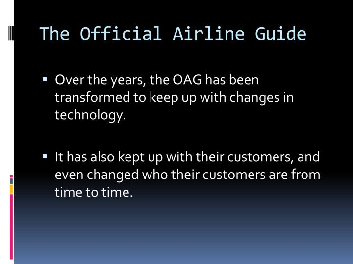 The Official Airline Guide