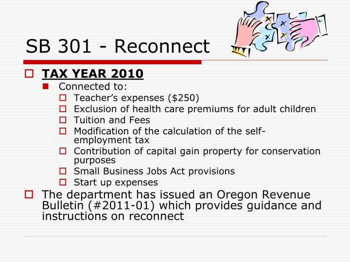 SB 301 - Reconnect