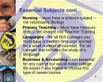 essential subjects cont