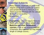 essential subjects