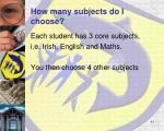 how many subjects do i choose