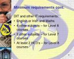 minimum requirements cont1