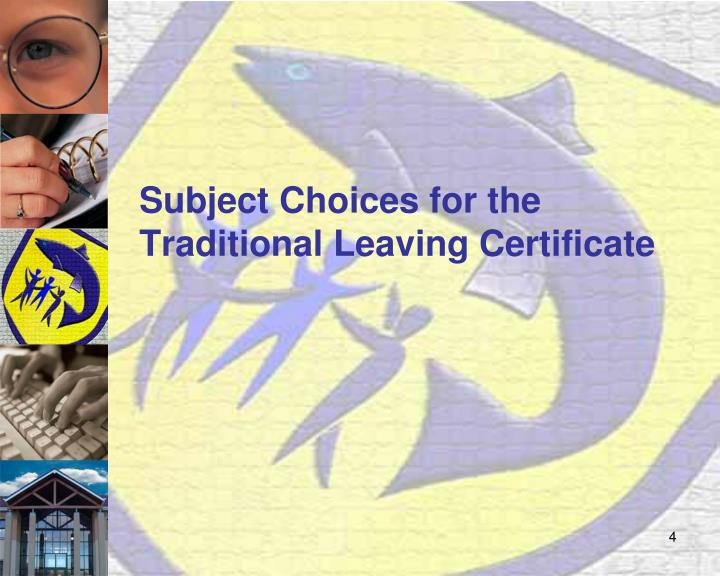 Subject Choices for the Traditional Leaving Certificate