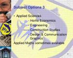 subject options 3