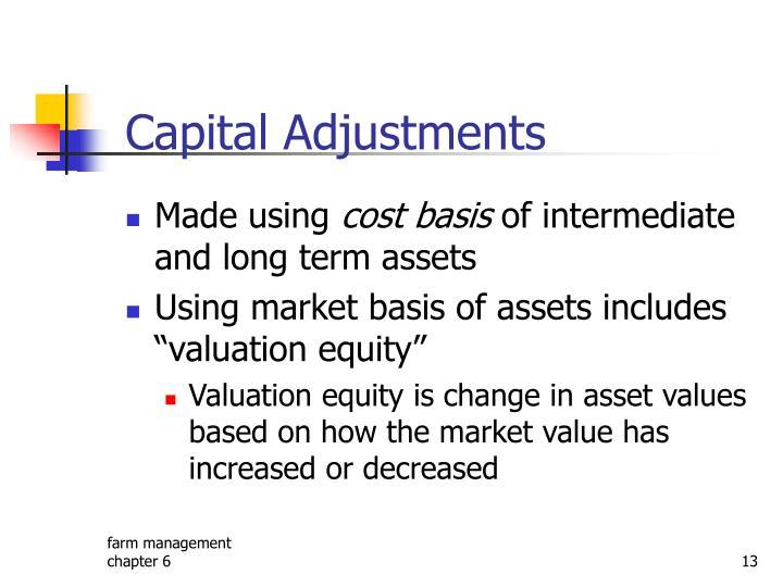 Capital Adjustments