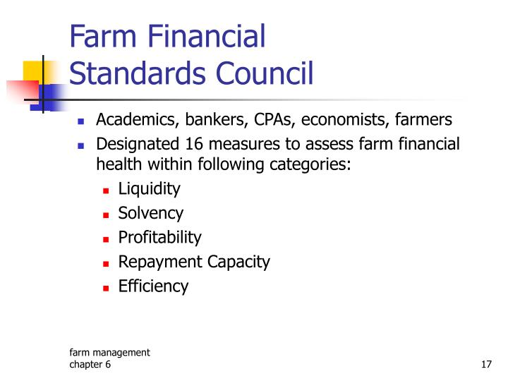 Farm Financial