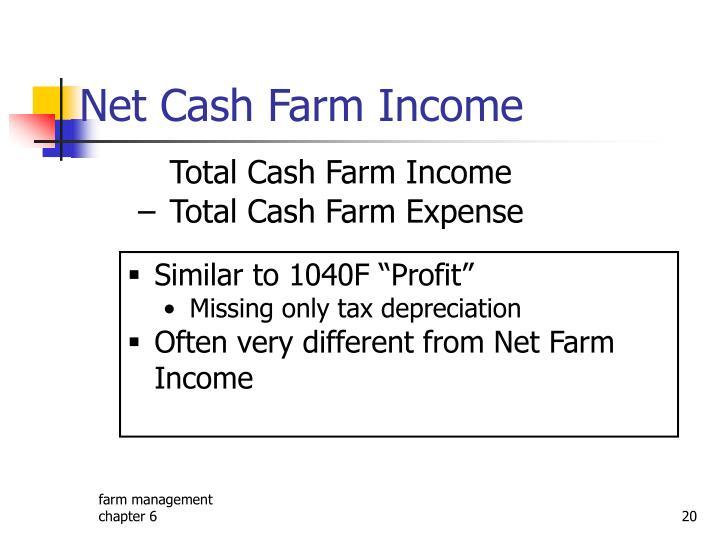 Net Cash Farm Income