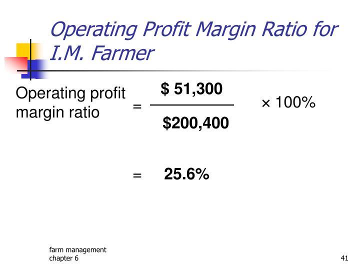 Operating Profit Margin Ratio for I.M. Farmer