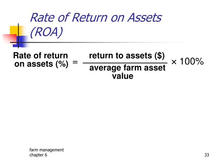 Rate of Return on Assets